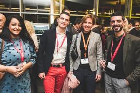 Yassmine Myami et Jerome Illes (RH Expert), Gwen Tanson (Reflets) et Aurélien Soler (RH expert) ((Photo: Arthur Ranzy))
