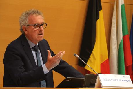 Le ministre des Finances, Pierre Gramegna, a indiqué que la Place devrait relever les défis du changement climatique et de la digitalisation. Il a plaidé pour que la BEI et le FEIS mettent l'accent sur ces deux aspects. (Photo:@UE_Luxembourg/Twitter)