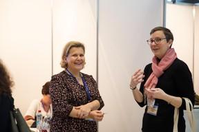 À droite, Anne-Claire Bilocq (Payrium) ((Photo: Romain Gamba))