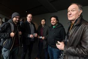 Adolf El Assal, Nilton Martins au centre et Bob Krieps à droite ((Photo: Nader Ghavami / Maison Moderne))