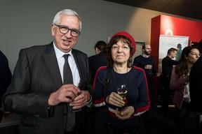 Bady Minck, réalisatrice, productrice, précurseur du cinéma au Luxembourg à droite ((Photo: Nader Ghavami / Maison Moderne))
