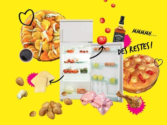 Pommes de terre, restes de raclette ou de poulet, légumes à cuisiner au plus vite: impossible de gâcher avec les recettes des jeunes chefs luxembourgeois pour Paperjam Foodzilla! (Design: Eva Pontini / Maison Moderne)