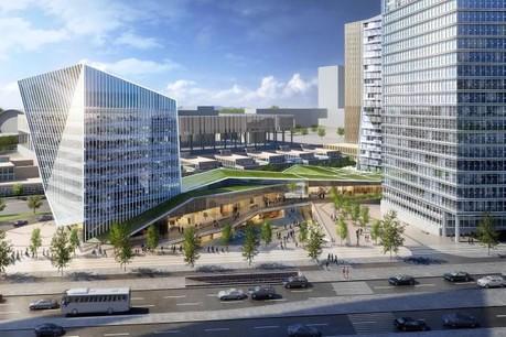 Allen & Overy doit emménager en 2020 au sein des locaux du bâtiment Infinity, en construction à l'entrée du Kirchberg. (Illustration: Immobel Luxembourg / Archives)