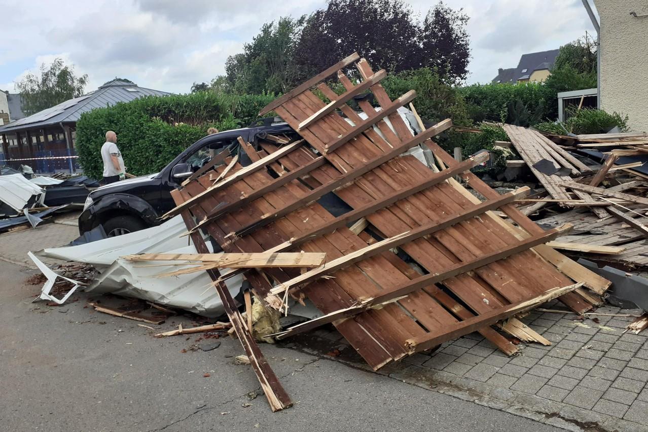 Au total, 314 habitations ont été enregistrées comme ayant été impactées par la tornade, via le numéro de téléphone spécial mis en place et le centre d'appel du 112. (Photo: Paperjam)