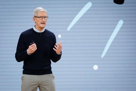Tim Cook a présenté les nouveautés lancées par Apple depuis le siège de la firme à Cupertino. (Photo: Shutterstock)
