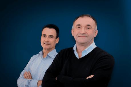 Michael Mohm, Business Development Manager at Microtis & Gilles Saint-Guillain, Sales Manager IT and Unified Communication / Security & Building Technologies au sein de CEL (Crédit : Microtis)