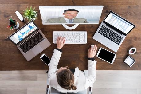 La vidéoconférence connaît son heure de gloire avec la nécessité de protéger ses employés de la contamination par le coronavirus. (Photo: Shutterstock)