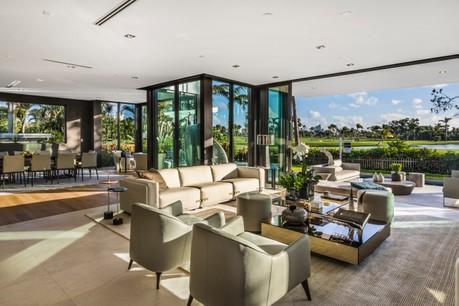 Intérieur de la maison déjà revendue par La vie est belle sur le golf de la Gorce Island de Miami Beach Photo: La Vie est Belle