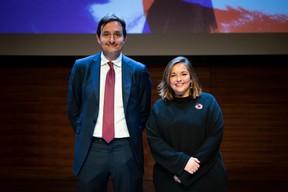 Nicolas Buck (président de l'UEL) et Nora Back (présidente de l'OGBL) ((Photo: Patricia Pitsch))
