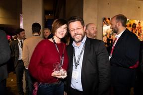 Frédérique Buck et Nicolas Henckes (Confédération luxembourgeoise du commerce) ((Photo: Patricia Pitsch))