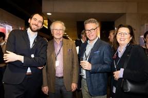 Augustin Nourissier (Skyfarms) et Paul Helminger (Cargolux Airlines International) et Karin Schintgen (House of Startups) ((Photo: Patricia Pitsch))