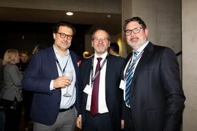 Emmanuel Réveillaud (Kaufhold & Réveillaud) au centre et Geoffrey Cousin (GES Luxembourg) à droite ((Photo: Patricia Pitsch))