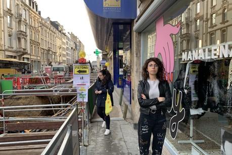 Les travaux plombent la fin d'année des commerçants avenue de la Liberté et dans tout le quartier de la gare. Maddalena Oliva fait partie de ceux qui ont décidé de recourir à l'indemnisation pour chômage technique. (Photo: Paperjam / Archives)