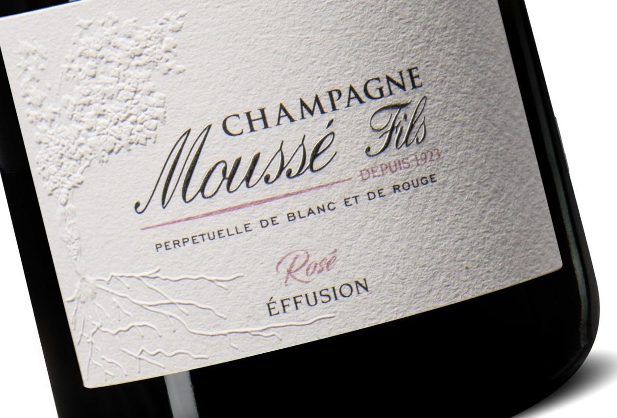Champagne Moussé Fils 'Effusion Rosé' Craft et Compagnie