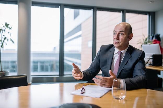Philippe Seyll – Le CEO de Clearstream investit toujours davantage dans les technologies liées à l'intelligence artificielle et à la blockchain. (Photo: Edouard Olszewski)