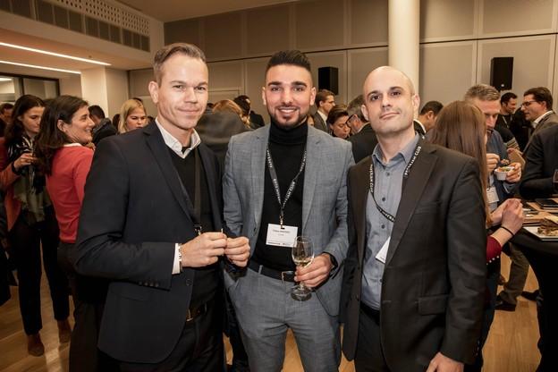 Mirko Boemer (Bâloise), Yoann Amodeo (CDC Pub) et Rémi Dehon (Bâloise) (Photo: Jan Hanrion/Maison Moderne)