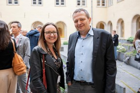 Sabrina De Nardi (POST Luxembourg) et Francois Altwies (Neurofeedback-Luxembourg) ((Photo: Jan Hanrion / Maison Moderne))