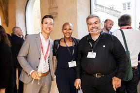Léo Santoro (Maison Moderne), Aïcha Alorabou (Colt Technology Services) et Brent Frère (Abil'IT) ((Photo: Jan Hanrion / Maison Moderne))