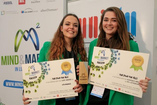 Ilana Devillers (à gauche) etXénia Ashby ont cofondé Food4All, et ont remporté de nombreux prix, dont deux au dernier Mind&Market. (Photo: Matic Zorman)