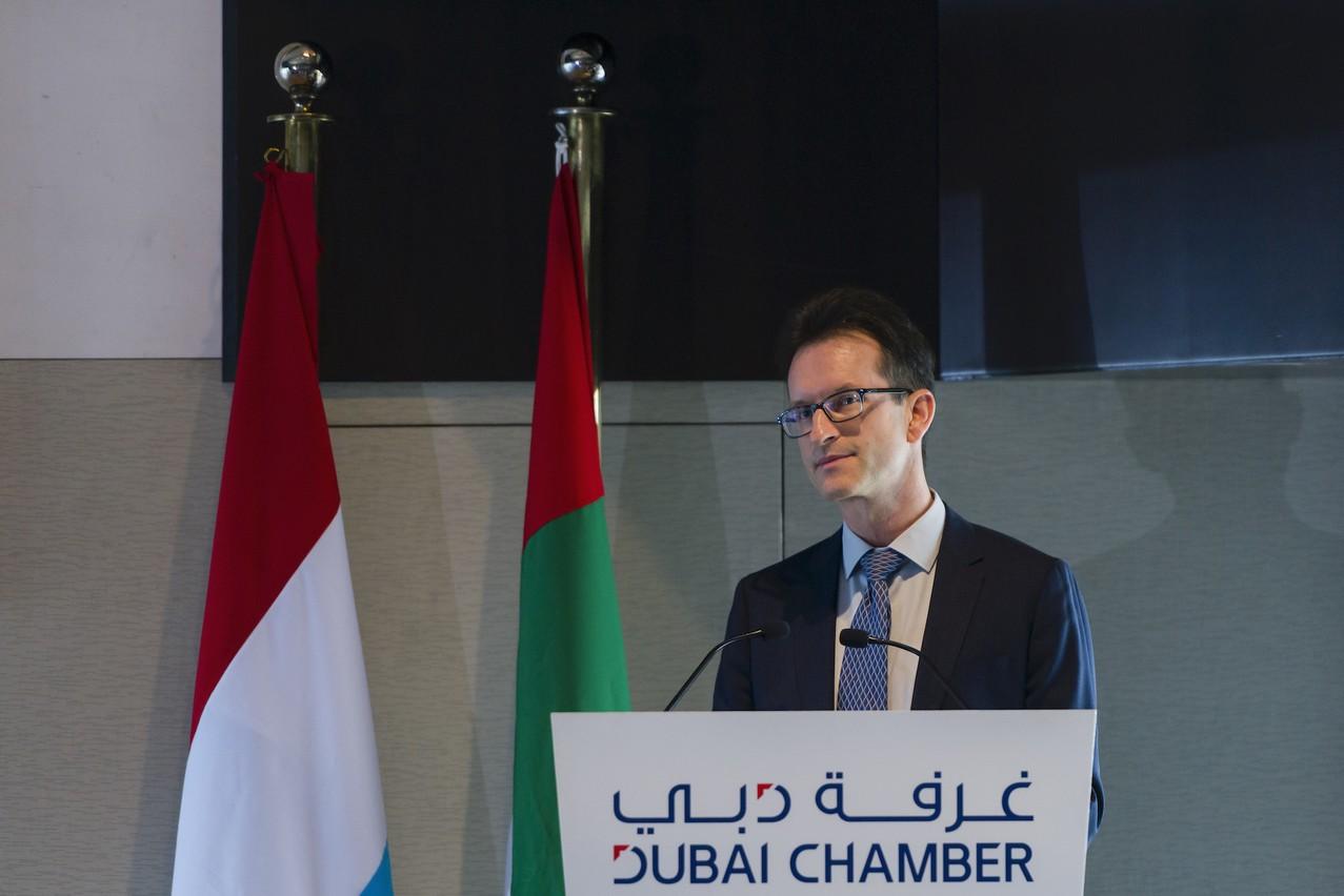 Carlo Thelen, directeur général de la Chambre de commerce, intervenait le 28 janvier lors d'un forum public, dans le cadre de la mission économique luxembourgeoise à Dubaï. (Photo: SIP)