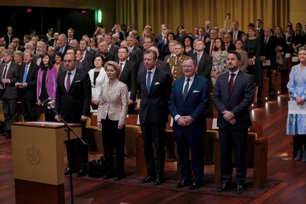 Le collège des commissaires s'est engagé solennellement à servir l'UE et ses citoyens sous les yeux de S.A.R le Grand-Duc Henri, le Premier ministre Xavier Bettel et le président de la Chambre des députés Fernand Etgen. (Photo: Romain Gamba/Maison Moderne)