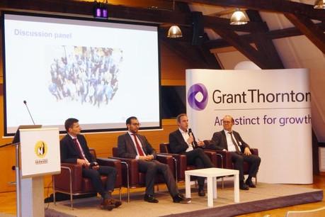 De gauche à droite: Lionel Gendarme, Shariq Arif, Christophe Buschmann et Gérard Flamion. (Photo: Grant Thornton Luxembourg)