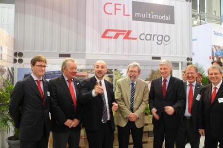 Marc Wengler, Alex Kremer, Etienne Schneider, Jeannot Waringo, Claude Wiseler, Fernand Rippinger, Fraenz Benoy (Photo: CFL Cargo)