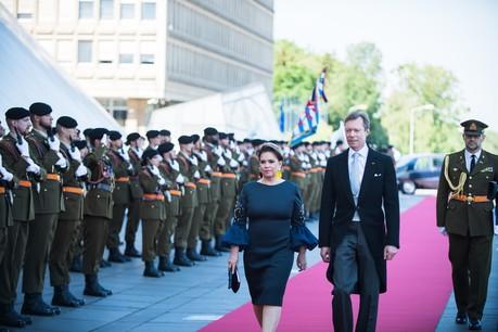Le couple grand-ducal lors de la cérémonie civile de la Fête nationale2019, à la Philharmonie.  (Photo: Nader Ghavami)
