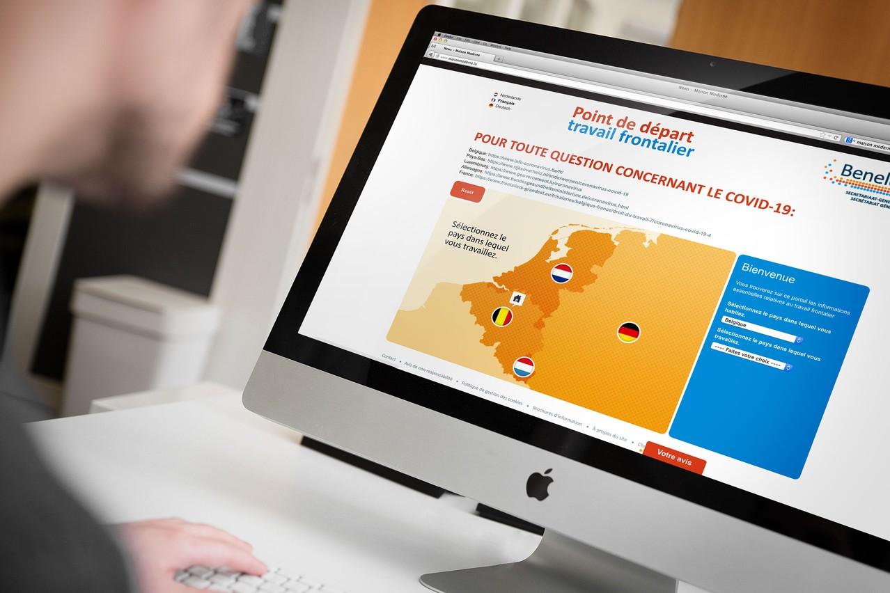 Le portail  Point de départ travail frontalier centralise les informations des gouvernements du Benelux pour faciliter les déplacements des travailleurs frontaliers. (Photo: Capture d'écran / Maison Moderne)