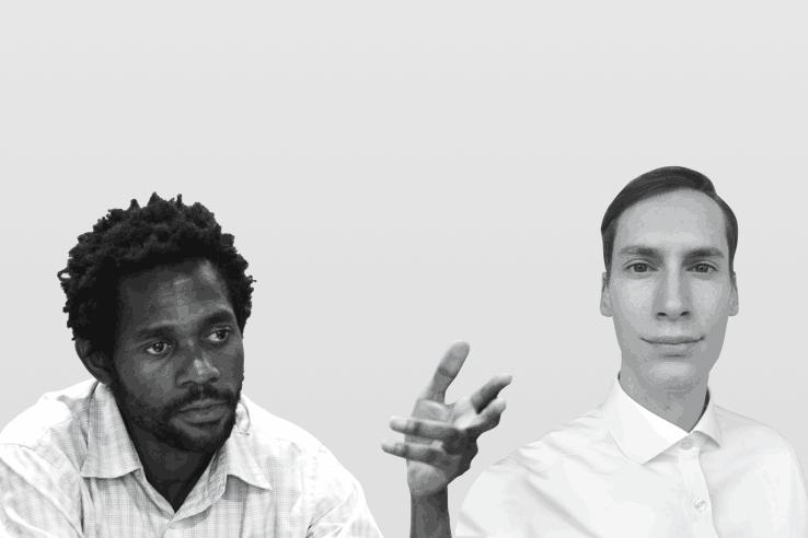 Michel-Édouard Ruben, senior economist de la Fondation Idea, et Darius Stein, économiste et consultant en développement durable. (Photo: Maison Moderne)