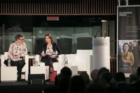 Katie Martin (Financial Times); Joanna Cound (BlackRock) ((Photo: Nelson Coelho / @nelsoncoelhofilms))