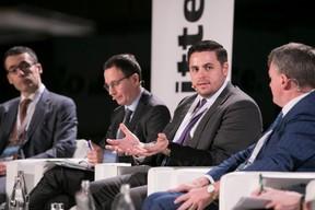Antonio Barattelli (ESMA); Stéphane Janin (AXA Investment Managers); Jonathan Doolan (Casey Quirk); John Donohoe (Carne Group) ((Photo: Nelson Coelho / @nelsoncoelhofilms))