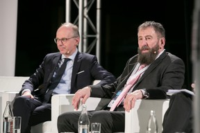 Luc Frieden (Elvinger Hoss Prussen); Jonathan Hughes-Morgan (Morgan Morgan Ltd) ((Photo: Nelson Coelho / @nelsoncoelhofilms))