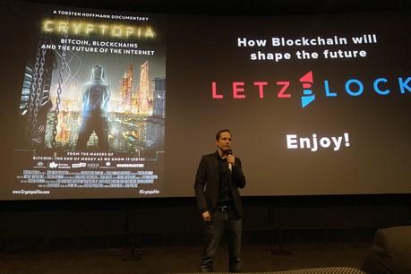 Torsten Hoffmann, lundi soir à l'Utopolis, pour l'unique occasion au Luxembourg de voir son nouveau documentaire sur le bitcoin et la blockchain. (Photo: Paperjam)