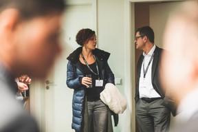 Priscillia Hireche (TNT/Fedex Luxembourg) et Marc Vandenhoeke (Spuerkeess) ((Photo: Arthur Ranzy))