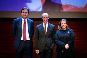 Nicolas Buck (UEL), Thierry Raizer (Paperjam) et Nora Back (OGBL). ((Photo: Patricia Pitsch/Maison Moderne))