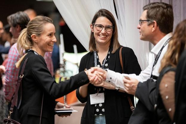 Elsie Danjou (Le Royal), Justine Bousquet (Great Place to Work) et Marc Vandenhoeke (Spuerkeess). (Photo: Jan Hanrion / Maison Moderne)