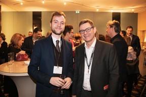 Alain Meyer (Bâloise Assurances) et Marc Vandenhoeke (Spuerkeess) ((Photo: Jan Hanrion / Maison Moderne))