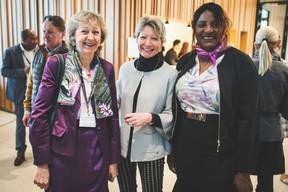 Eliane Fuchs (Femmes Leaders Luxembourg), Nicole Dochen-Waltregny (Banque du Luxembourg) et Nicole Avez-Nana (AB-Lux) ((Photo: Arthur Ranzy))