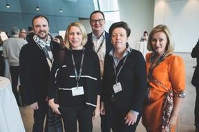 Patricia Streber (XXA Architecture), Jérôme Wiwinus (Lalux Assurances), Gaetane Meilleur (AIBM) et Odette Tonaer (Yoake) ((Photo: Arthur Ranzy))