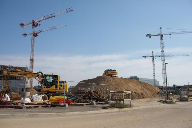 Les chantiers sont à l'arrêt depuis le 20 mars. (Photo: Matic Zorman/Archives Paperjam)
