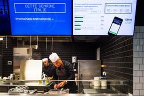 Une application permet aux employés de voter pour leur menu. (NADER GHAVAMI)