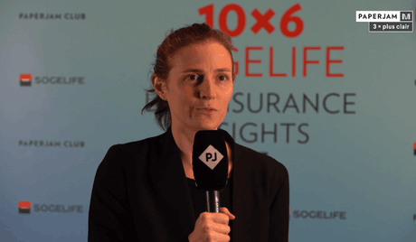 Claire de Boursetty, Membre de l'ACA, lors du 10×6 Sogelife: Life Insurance Insights. (Crédit: Maison Moderne)