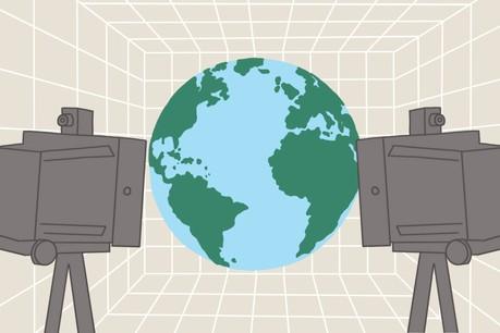 VincentPedrini: «Ce monde numérique est appelé 'Monde Miroir' et permettrait d'accéder à de nombreuses innovations en matière d'automobile, notamment pour les algorithmes d'auto-conduite, de smart cities et de réalité virtuelle à l'échelle de ville.» (Illustration: Ellen Withersova)