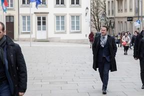 Xavier Bettel, le Premier ministre, lors de son arrivée au palais. ((Photo: Jan Hanrion/Maison Moderne))