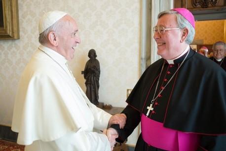 Le Pape François et Mgr Hollerich se connaissent depuis longtemps, s'apprécient et partagent une même vision de l'Église. (Photo: Archevêché de Luxembourg)