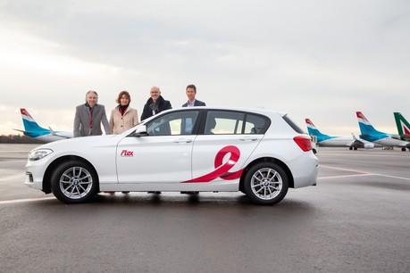 De gauche à droite: RenéSteinhaus (CEO Lux-Airport), Stefanie Kaever (head of mobility, Lux-Airport), Jürgen Berg (directeur général CFL Mobility) et Pit Reiter (B2B relations, Flex Carsharing).   (Photo: Flex Carsharing)