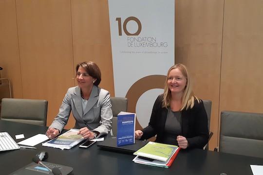 Tonika Hirdman, directrice générale de la Fondation de Luxembourg, et Hanna Surmatz, de l'European Foundation Center. (Photo: Fondation de Luxembourg)