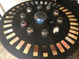 Une table présente les différentes teintures utilisées. ((Photo: Paperjam))