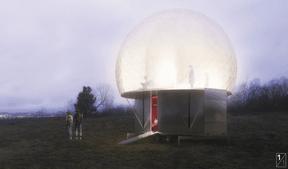 Projet de 2001 +Njoy pour le pavillon pop-up à Esch-sur-Alzette. ((Illustration: 2001 + Njoy))
